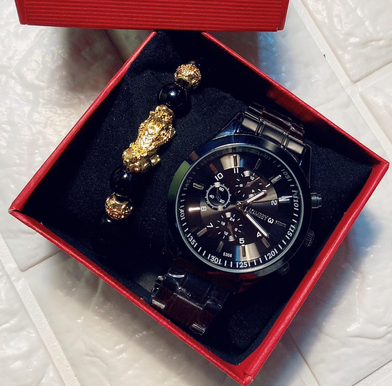 Đồng hồ nam độc Tặng Vòng Tỳ Hưu - Đồng hồ nam đẹp cao cấp chính hãng