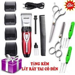 [ FREE SHIP TOÀN QUỐC ] tông đơ cắt tóc gia đình 0817 tặng kèm kéo cắt tỉa + lấy ráy tai có đèn tiện dụng