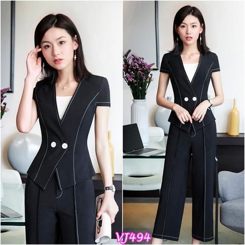 Thời trang công sở - VJ494 Set nguyên bộ áo vest quần dài chỉ nổi - 4560293 , 16609142 , 15_16609142 , 430000 , Thoi-trang-cong-so-VJ494-Set-nguyen-bo-ao-vest-quan-dai-chi-noi-15_16609142 , sendo.vn , Thời trang công sở - VJ494 Set nguyên bộ áo vest quần dài chỉ nổi