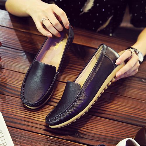 Giày lười nữ cao cấp - Giày da lười nữ - Giày nữ giày lười
