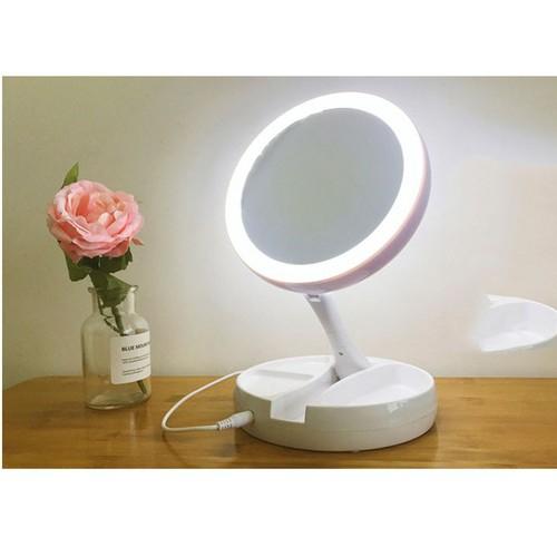 Gương trang điểm để bàn gấp gọn có đèn LED - 6564322 , 16627708 , 15_16627708 , 299000 , Guong-trang-diem-de-ban-gap-gon-co-den-LED-15_16627708 , sendo.vn , Gương trang điểm để bàn gấp gọn có đèn LED