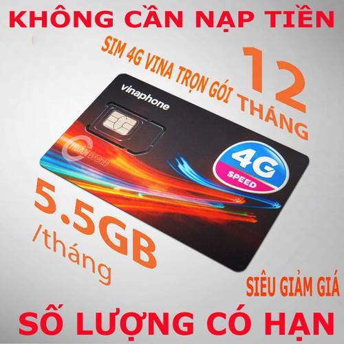 SIM 4G VINA D500 TRỌN GÓI 12 THÁNG ƯU ĐÃI DATA TỐC ĐỘ CAO 5,5 GB-THÁNG