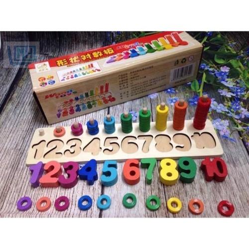 Bộ chữ số wood toys