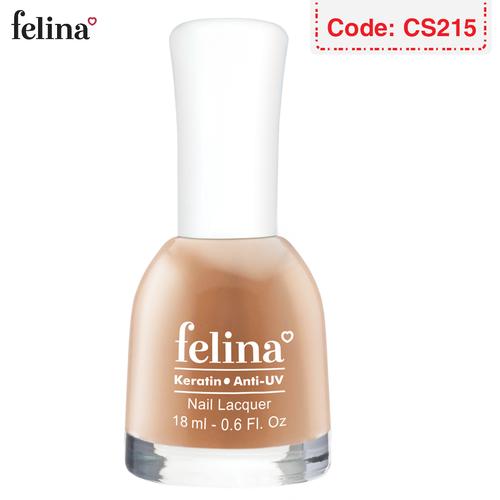 Sơn móng tay Felina 18ml - Màu Cam Nude - Code CS215