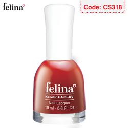 Sơn móng tay Felina 18ml - Màu Đỏ Ớt - Code CS318