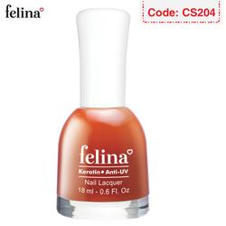 Sơn móng tay Felina 18ml - Màu Đỏ Cam - Code CS204