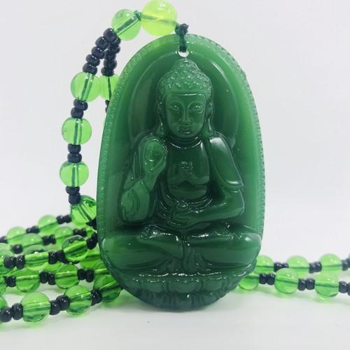 Dây chuyền Phật bản mệnh tuổi Tuất, Hợi - Vòng cổ Phật A Di Đà - Xanh Lục