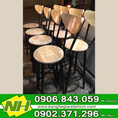 Ghế bar cafe bằng gỗ
