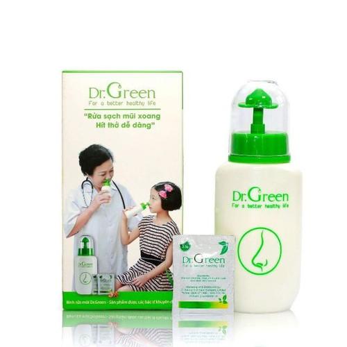 combo 1bình rửa mũi DR Green và 30 muối