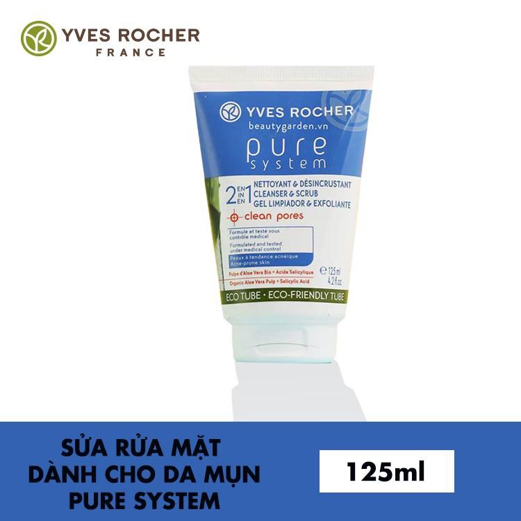 Sữa rửa mặt cho da mụn Yves Rocher 2 in 1 Cleanser and Exfoliator 125 ml 1