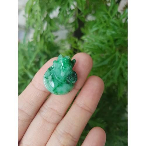 Mặt dây chuyền Hồ ly ngọc sơn thủy thiên nhiên - xưởng buôn đá phong thủy Huỳnh Đào