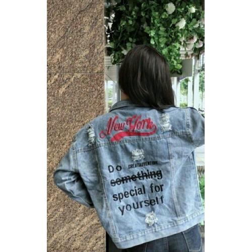 Áo khoác jean nữ thời trang