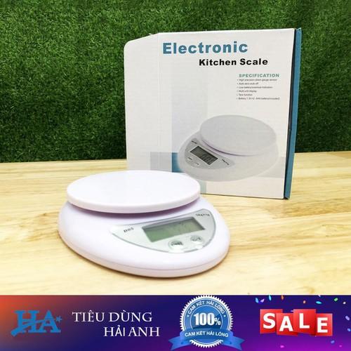 Cân tiểu ly điện tử Kitchen Scale thông minh 5kg kèm pin - GDTRONGL142