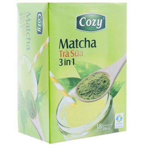 Trà sữa Matcha 3in1 Cozy hộp 18 gói x 17g