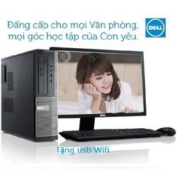 Trọn Bộ máy tính để bàn Dell OPTIPLEX 790 B03 CPU G620, Ram 2GB, HDD 250GB, DVD, Màn hình Dell 19 Monitor 18.5 inch bảo hành 24 tháng, tặng USB Wifi, Chuột, Phím, bảo hành 24 tháng, hàng nhập khẩu