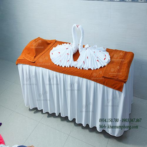 Khăn Trải Giường Spa, Khăn Đắp người spa Cotton Cao Cấp màu Da Bò| Khan Nam Phong