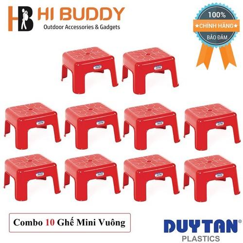 Combo 10 Ghế Mini Vuông Duy Tân 23.5 x 23.5 x 15 cm No.H002