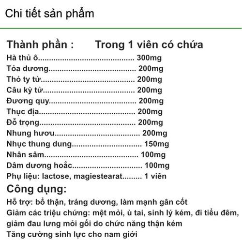 5 hộp Bổ Thận Tráng Dương VINOFA tăng cường sinh lý giảm tình trạng xuất tinh  sớm giảm đau lưng mỏi gối - 6622574 , 16670203 , 15_16670203 , 999000 , 5-hop-Bo-Than-Trang-Duong-VINOFA-tang-cuong-sinh-ly-giam-tinh-trang-xuat-tinh-som-giam-dau-lung-moi-goi-15_16670203 , sendo.vn , 5 hộp Bổ Thận Tráng Dương VINOFA tăng cường sinh lý giảm tình trạng xuất tinh