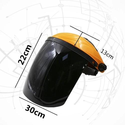 Mũ kính bảo hộ bảo vệ che mặt-Màu đen