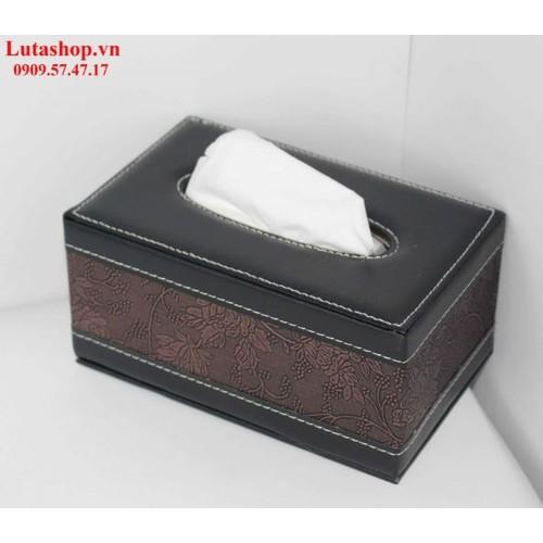 Hộp đựng khăn giấy chữ nhật nâu cổ điển - 6613806 , 16662723 , 15_16662723 , 250000 , Hop-dung-khan-giay-chu-nhat-nau-co-dien-15_16662723 , sendo.vn , Hộp đựng khăn giấy chữ nhật nâu cổ điển