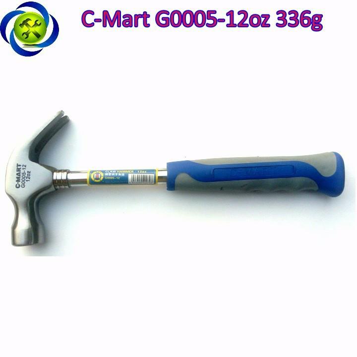 Búa nhổ đinh cán sắt C-Mart G0005-12oz 336g 1