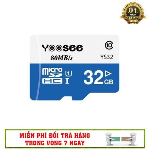 Thẻ Nhớ 32GB Yoosee - Tốc Độ Đọc Chuẩn Class 10 80mb.s