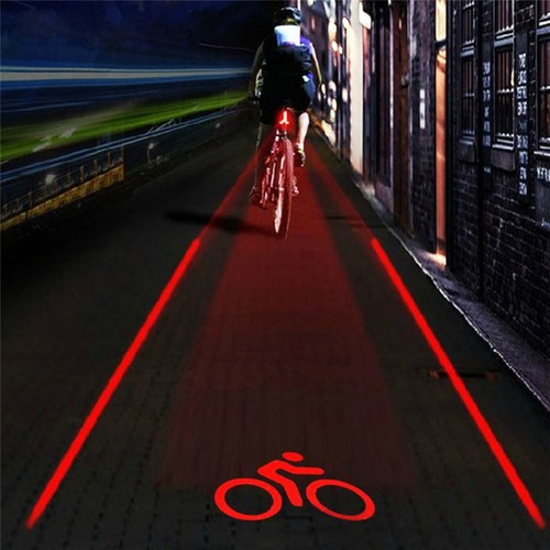 Đèn hậu gắn xe đạp cảnh báo cho xe sau khi đi trời tối
