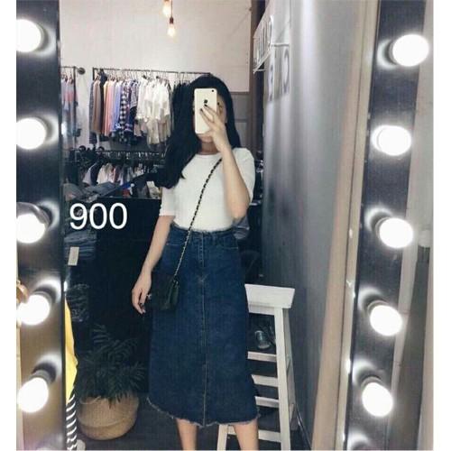 Chân váy jean nữ dài đẹp