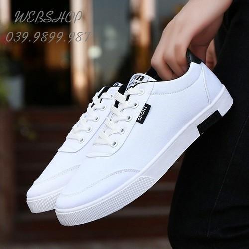 Giày thể thao nam trắng - Giày nam thể thao - Giày nam thời trang