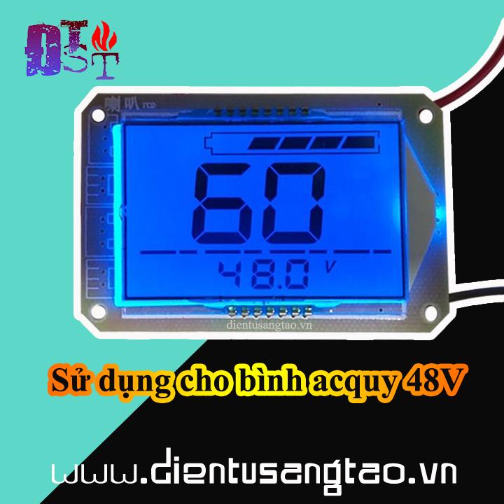 Mạch báo dung lượng bình acquy 48V hiển thị phần trăm và điện áp