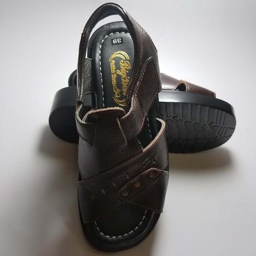 Sandal nam da bò thật cao cấp bảo hành một năm DN574