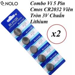 Combo 2 Vỉ 5 Pin Cmos CR2032 Viên Tròn 3V Chuẩn Lithium