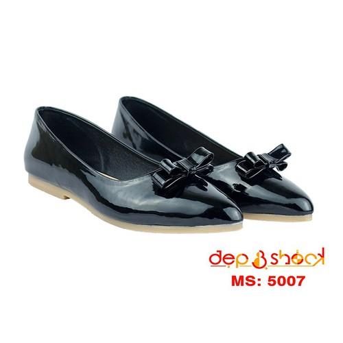 Giày búp bê đính nơ màu đen nhiều size