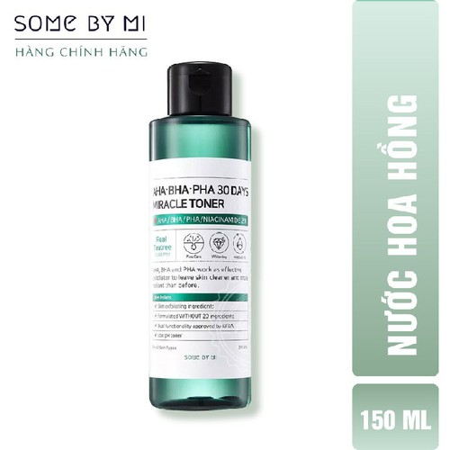 Nước Hoa Hồng Trị Mụn Some By Mi AHA-BHA-PHA 30 Days Miracle Toner 150ml - 4569905 , 16663975 , 15_16663975 , 345000 , Nuoc-Hoa-Hong-Tri-Mun-Some-By-Mi-AHA-BHA-PHA-30-Days-Miracle-Toner-150ml-15_16663975 , sendo.vn , Nước Hoa Hồng Trị Mụn Some By Mi AHA-BHA-PHA 30 Days Miracle Toner 150ml