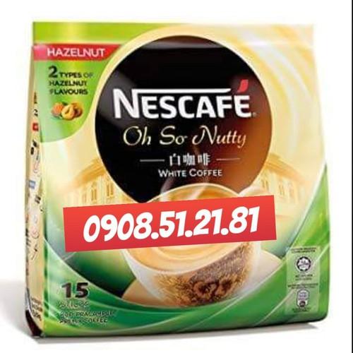Cà Phê Trắng Nescafe White Coffee Hạt Dẻ