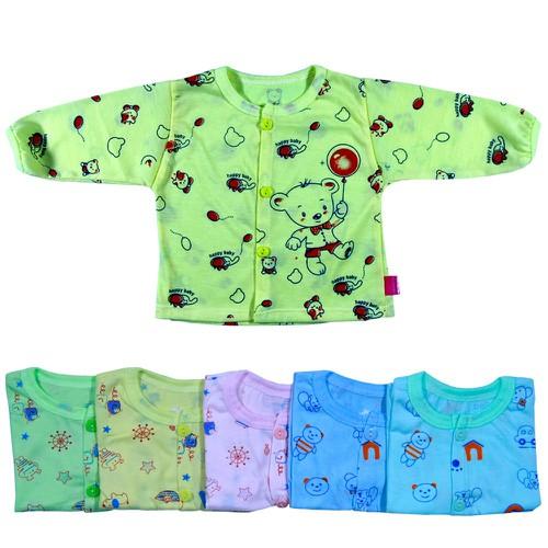 Combo 10 Áo tay dài in hình cho bé trai bé gái từ 2-10kg ADH- áo sơ sinh