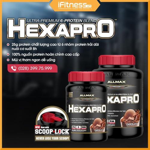 Sữa tăng cơ Hexapro Ultra-Premium Protein Vanilla 1.36 kg - 11088097 , 16678489 , 15_16678489 , 900000 , Sua-tang-co-Hexapro-Ultra-Premium-Protein-Vanilla-1.36-kg-15_16678489 , sendo.vn , Sữa tăng cơ Hexapro Ultra-Premium Protein Vanilla 1.36 kg