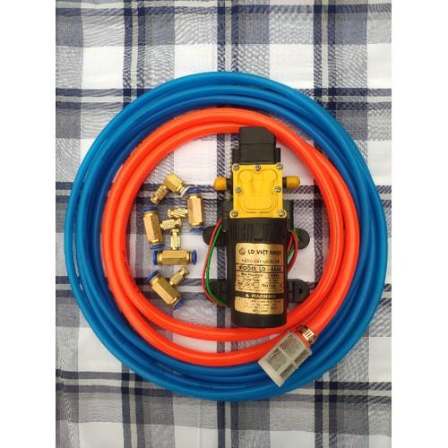 Combo máy phun sương VIỆT NHẬT 5 béc-10m dây-lọc nước chưa nguồn