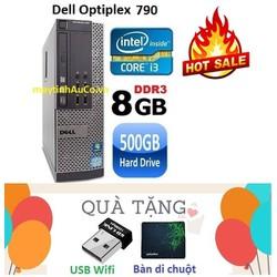 Máy tính đồng bộ Dell Optiplex 790 Core i3 2100 Ram 8G HDD 500G - Tặng USB Wifi , Bàn di chuột , Bảo hành 24 tháng