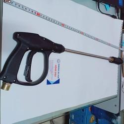 Súng rửa xe máy rửa xe áp lực cao đầu ren nối ống M22mm có ống nối dài linh động
