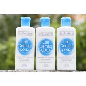 Sữa tẩy trang Evoluderm Lait Demaq Doux sữa 150ml - tay trang sua Evo