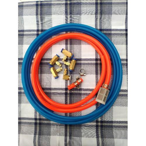 Bộ phụ kiện máy phun sương mini 12v gồm 5 béc-10m dây-lọc nước