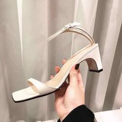 Giày sandal cao gót đế vuông mẫu mới
