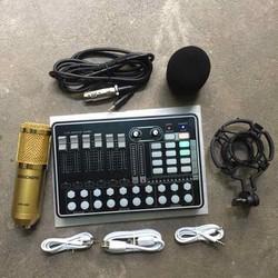 CHỌN BỘ THU ÂM KARAOKE MIC BM900-SOUND CARD H9 Có bluetooth