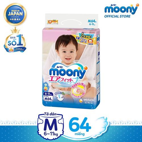 Tã dán cao cấp Moony M 64 miếng - Nhập khẩu từ Nhật Bản - 6634436 , 16680285 , 15_16680285 , 475000 , Ta-dan-cao-cap-Moony-M-64-mieng-Nhap-khau-tu-Nhat-Ban-15_16680285 , sendo.vn , Tã dán cao cấp Moony M 64 miếng - Nhập khẩu từ Nhật Bản