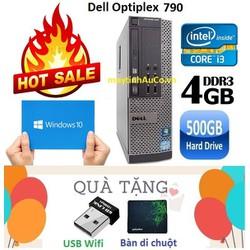 Máy tính đồng bộ Dell Optiplex 790 Core i3 2100 , Ram 4G , HDD 500G - Tặng USB Wifi , Bàn di chuột , Bảo hành 24 tháng
