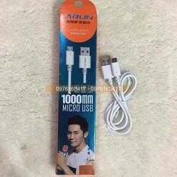 Cáp sạc Micro USB dài 1m chuẩn sạc nhanh