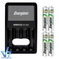 Bộ sạc Energizer Charger kèm 4 pin Ener AAA 700mAh, tự ngắt sạc