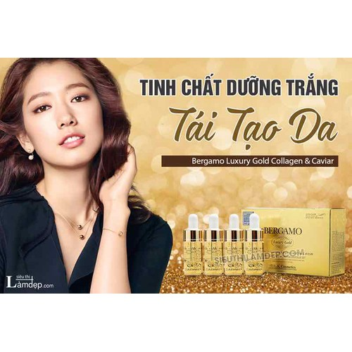 SERUM BERGAMO LUXURY GOLD COLLAGEN & CAVIAR CỦA KOREA HÀN QUỐC