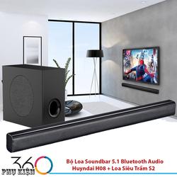 Bộ Loa Soundbar 5.1 Bluetooth Audio Huyndai H08 + Loa Siêu Trầm S2